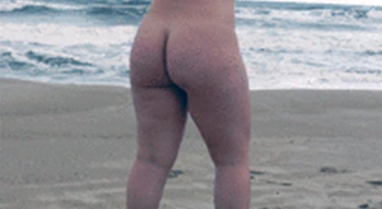 bel culo maturo in spiaggia